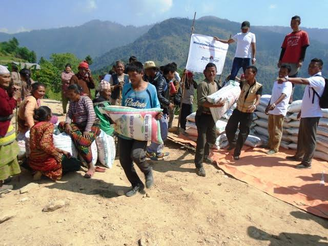 Support from Himalaya Discovery for Earthquake Victims